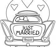 dessin mariage coloriage mariage gratuit à imprimer