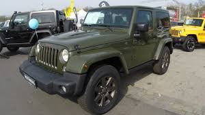 jeep car green jeep wrangler sarge green colour trail rated seventy five