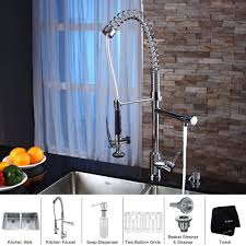kraus kitchen faucets other kitchen undermount kraus sink and kitchen faucet with