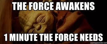 Meme Generator Yoda - the force awakens 1 minute the force needs sleeping yoda meme