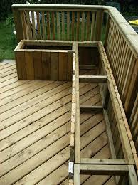 outdoor deck storage bench building a wooden deck over a concrete