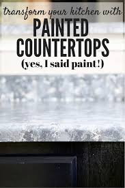 How To Paint Faux Granite - diy faux granite countertops love u0026 renovations