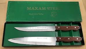maxam kitchen knives maxam steel kitchen knives vintage japan carving 5 set