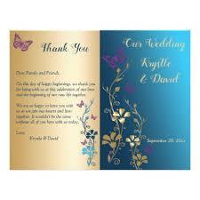 bi fold wedding program teal gold purple floral bi fold wedding program floral style