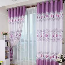 beautiful violet purple living room curtain ideas with decorated