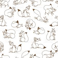 little cute squirrels seamless pattern for gift wrapping wallpaper