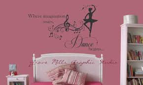 20 ways to wall decals for girls room bedroom dance font b ballet b font shoes vinyl sticker wall decal