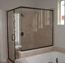 tub with glass shower door treated glass shower doors