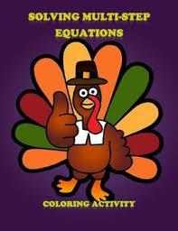 thanksgiving algebra solving equations coloring activity unit 2