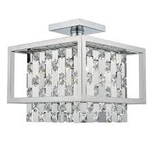 a modern semi flush chrome and ceiling lights deco details