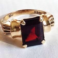 vintage 14k white gold art deco garnet ring size 6 3 4 antique