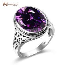 crystal rings wholesale images Wholesale austrian crystal ring purple stone fashion women men jpg