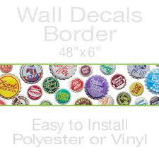 Wizard Of Oz Wall Stickers Soda Pop Bottle Caps Decorative Wall Decal Border Vintage Style