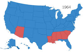 map us 50 years of electoral college maps how the u s turned and