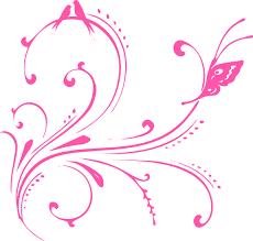 pink swirl birds butterfly princess clip at clker com vector