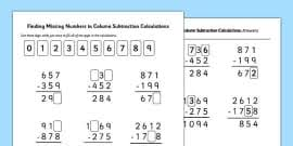 mental maths addition and subtraction activity sheet pack