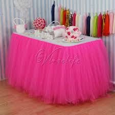 Pink Table Skirt by Online Get Cheap Pink Tulle Table Skirt Aliexpress Com Alibaba