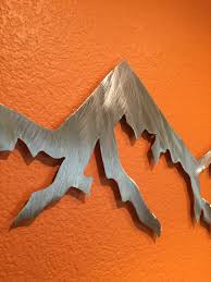 aluminum metal wall art mountains for outside or inside hanging aluminum metal wall art mountains for outside or inside hanging colorado mountain range handmade home decor bathroom wall ideas silver