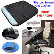 Gel Office Chair Cushion Sharper Image Multi Use Gel Seat Cushion Ebay