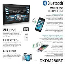 Add Usb Port To Car Stereo Dual Electronics Dxdm280bt Multimedia Lcd High Resolution Double
