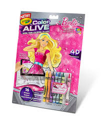 amazon com crayola color alive action coloring pages barbie