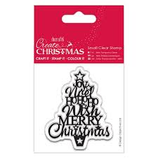 papiria create christmas clear stamp christmas tree
