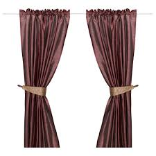 Kitchen Window Curtains Ikea by Felicia Pair Of Curtains With Tie Backs Ikea Kitchen U0026 Open