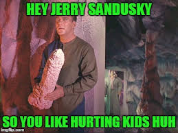 Jerry Sandusky Meme - kirk with rock latest memes imgflip
