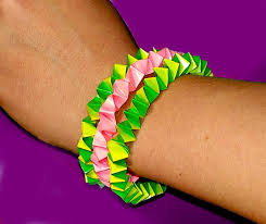 diy easy bracelet paper bracelet only 3 minutes great idea for