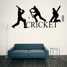 cricket wall art sticker sport cricketers graphics transfer wall