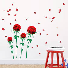 popular modern baseboard buy cheap modern baseboard lots from romantic red roses and lavender vinyl baseboard wall stickers for kids room living room marriage room
