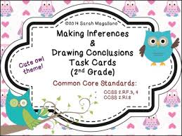 making inferences u0026 drawing conclusions reading task cards second