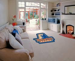 state university bears mascot area rug nylon