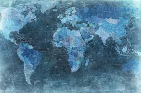 map mural map blue r10773 wall murals wallpaper rebel walls uk