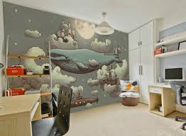 ocean meets sky mural papel pintado infantil pinterest ocean meets sky whimsical wallpapers for walls muffin mani wall mural fun for kids room