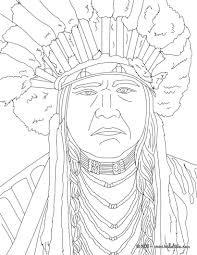 famous people coloring pa simple native american color pages