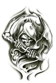 collection of 25 grey ink demonic skull design