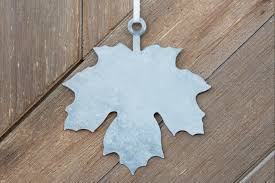 galvanized ornament tag maple leaf finding home farms
