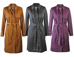 new ex debenhams womens shower proof mac in purple tan or charcoal