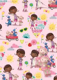 doc mcstuffins wrapping paper doc mcstuffins wrapping paper tags 2 gift wrap sheets 2 tags