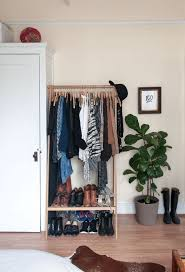 closet ideas apartment therapy ideas about makeshift closet