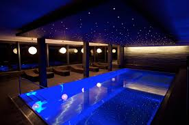 exquisite indoor pool room design with rectangle swimming and