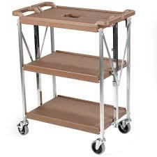 Folding Kitchen Cart by Carlisle 350 Lb Tan Small Fold U0027n Go Heavy Duty 3 Tier