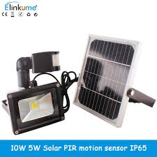 led solar sun lamp garden light pir motion sensor waterproof ip65