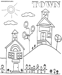 town coloring pages coloring pages to download and print