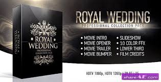royal wedding package after effects project videohive free