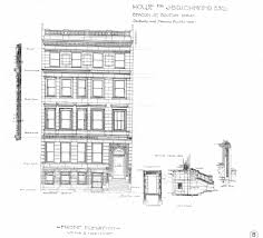 elevation and floor plan of a house architectural plans 310 beacon 1903 back bay houses