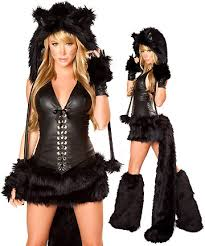 Woman Black Halloween Costume 3wishes Buy Bunny Costumes Playboy Bossy Kitty Costume