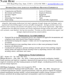Sample Resume For Experienced Hr Executive by Human Resources Resume Example Download Sample Resume