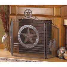 texas style lone star home decor fireplace screen